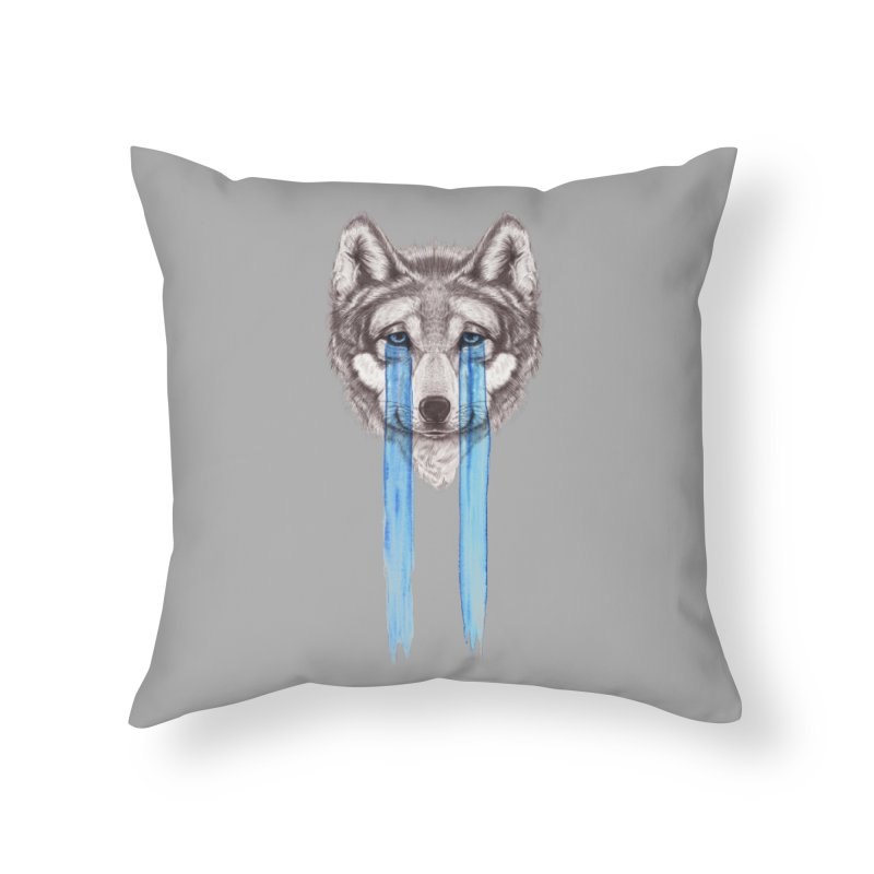 Don't Cry Wolf Home Throw Pillow by Luke Wisner