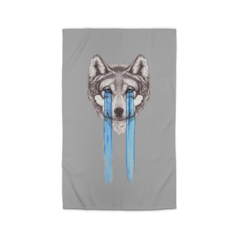 Don't Cry Wolf Home Rug by Luke Wisner