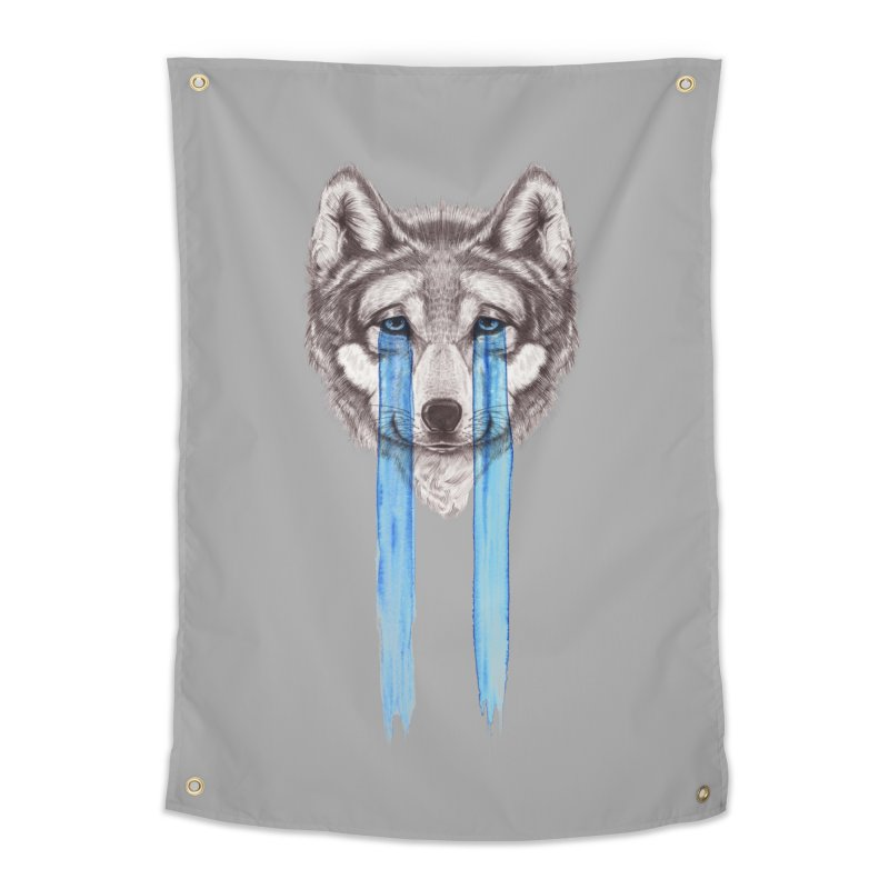 Don't Cry Wolf Home Tapestry by Luke Wisner