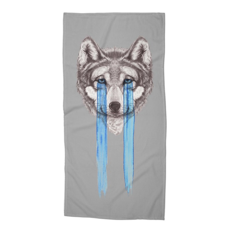 Don't Cry Wolf Accessories Beach Towel by Luke Wisner