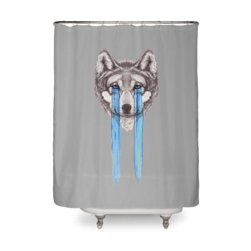 Don't Cry Wolf Home Shower Curtain by Luke Wisner