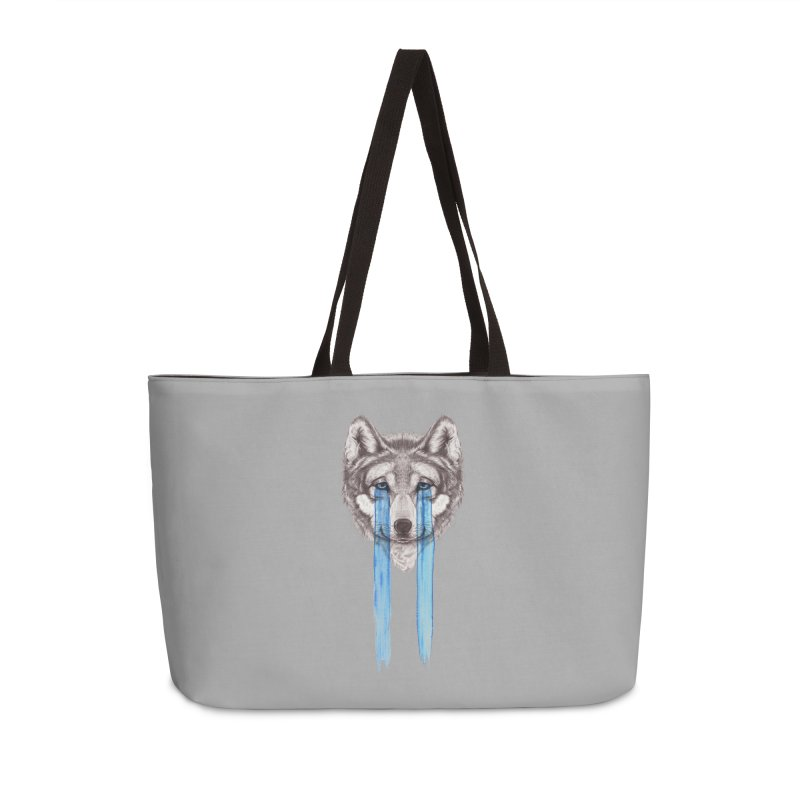 Don't Cry Wolf Accessories Weekender Bag Bag by Luke Wisner