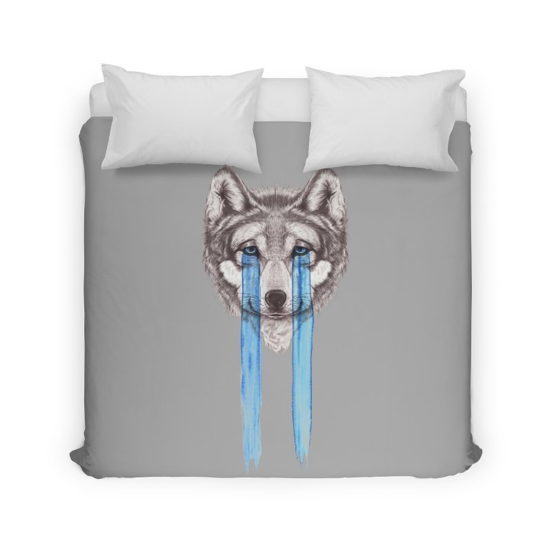 Don't Cry Wolf Home Duvet by Luke Wisner
