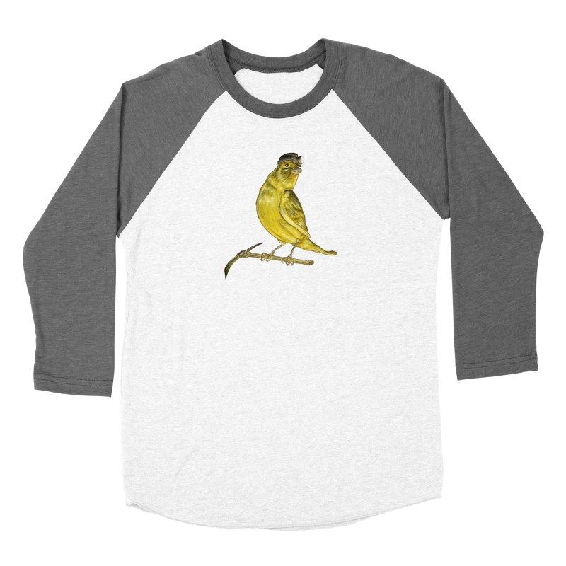 Canary Coal Miner Men's Baseball Triblend Longsleeve T-Shirt by Luke Wisner