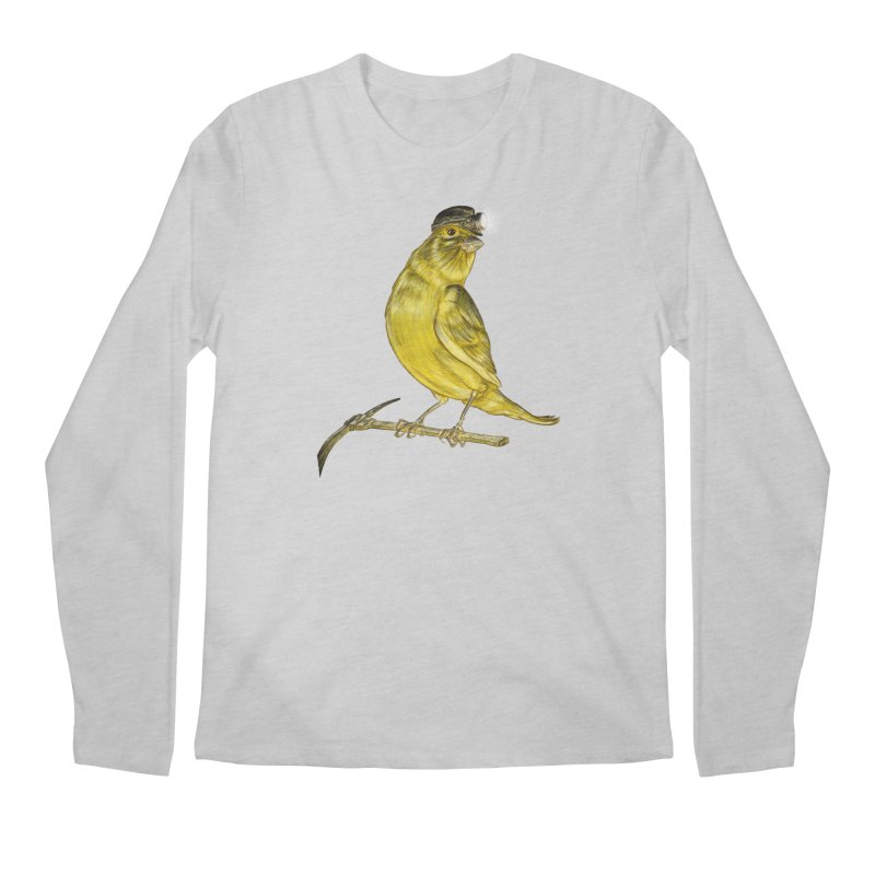 Canary Coal Miner Men's Regular Longsleeve T-Shirt by Luke Wisner
