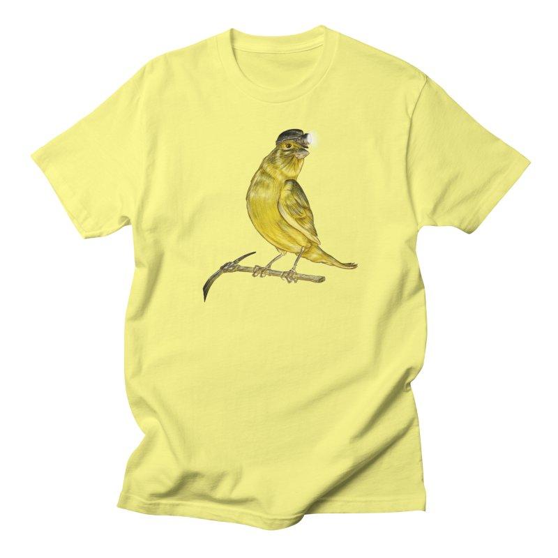 Canary Coal Miner Men's T-Shirt by Luke Wisner