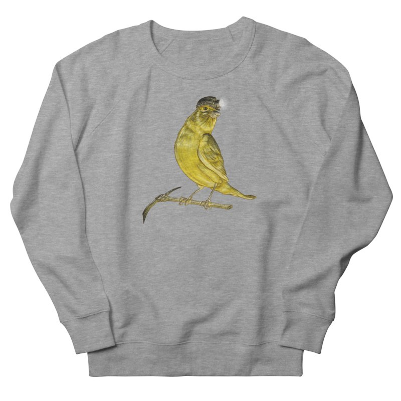 Canary Coal Miner Men's French Terry Sweatshirt by Luke Wisner