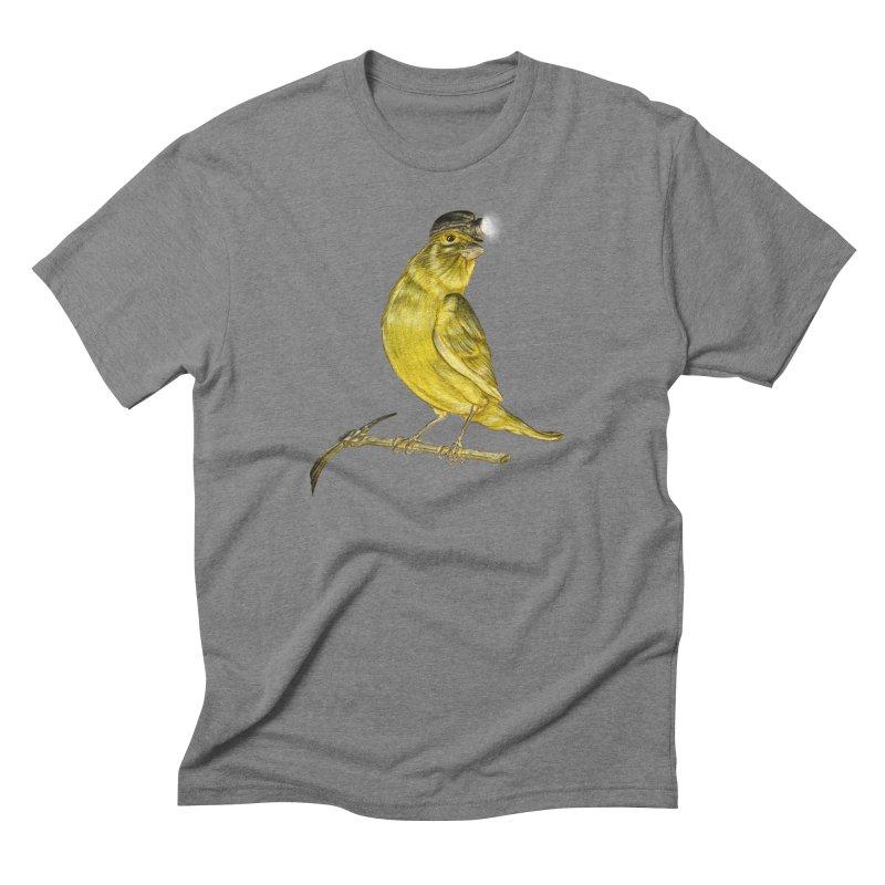 Canary Coal Miner Men's Triblend T-Shirt by Luke Wisner