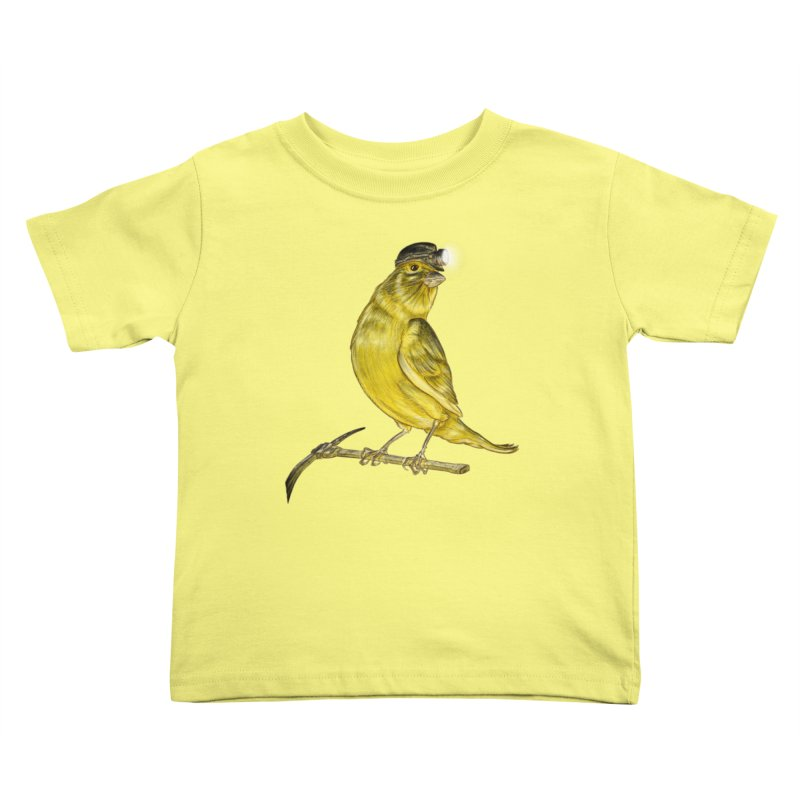 Canary Coal Miner Kids Toddler T-Shirt by Luke Wisner