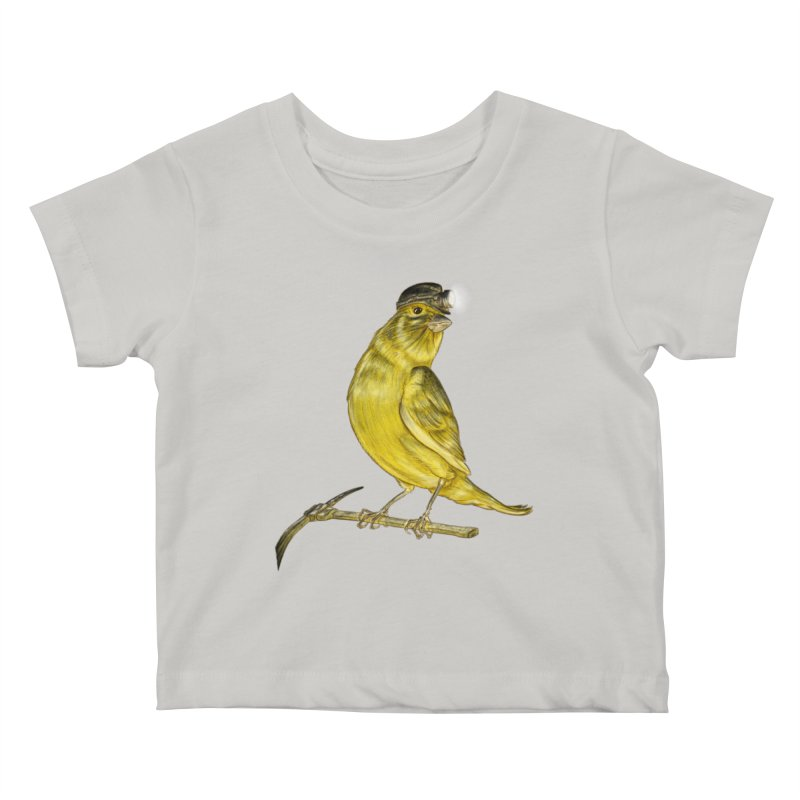 Canary Coal Miner Kids Baby T-Shirt by Luke Wisner