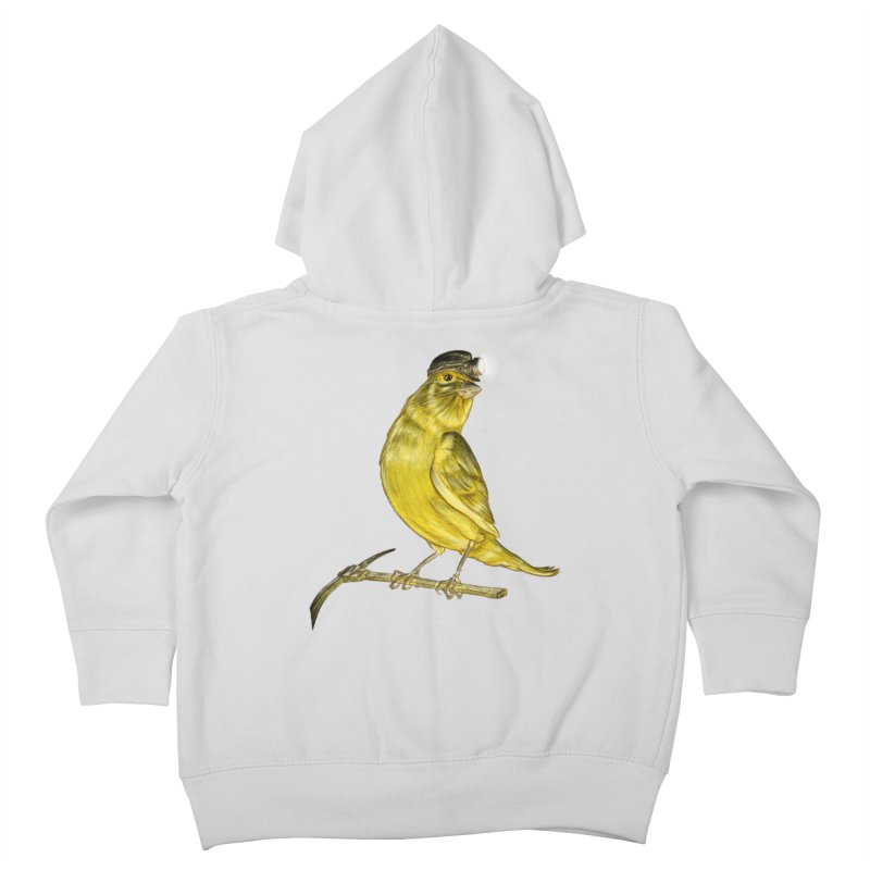 Canary Coal Miner Kids Toddler Zip-Up Hoody by Luke Wisner