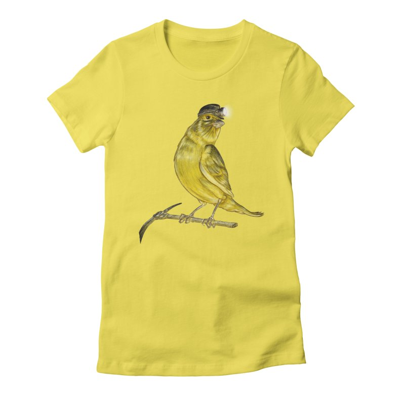Canary Coal Miner Women's Fitted T-Shirt by Luke Wisner