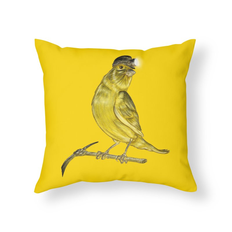 Canary Coal Miner Home Throw Pillow by Luke Wisner