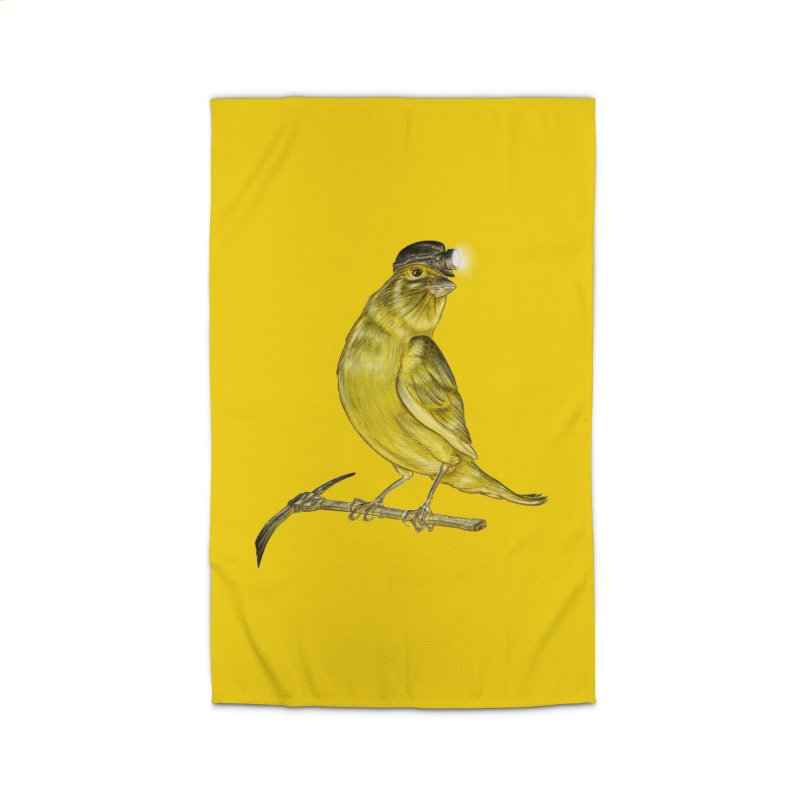 Canary Coal Miner Home Rug by Luke Wisner