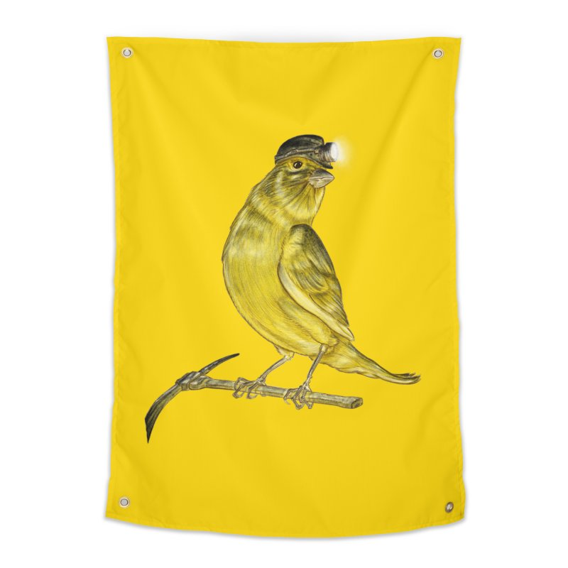 Canary Coal Miner Home Tapestry by Luke Wisner