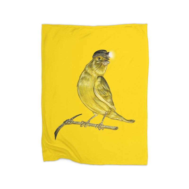 Canary Coal Miner Home Blanket by Luke Wisner