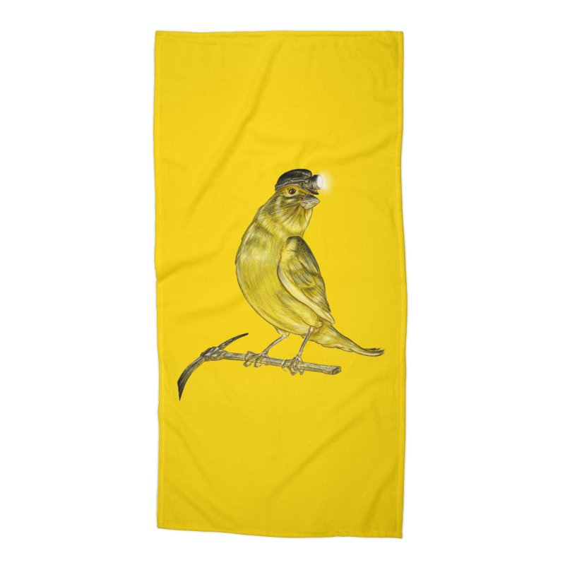 Canary Coal Miner Accessories Beach Towel by Luke Wisner