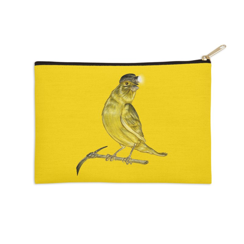 Canary Coal Miner Accessories Zip Pouch by Luke Wisner