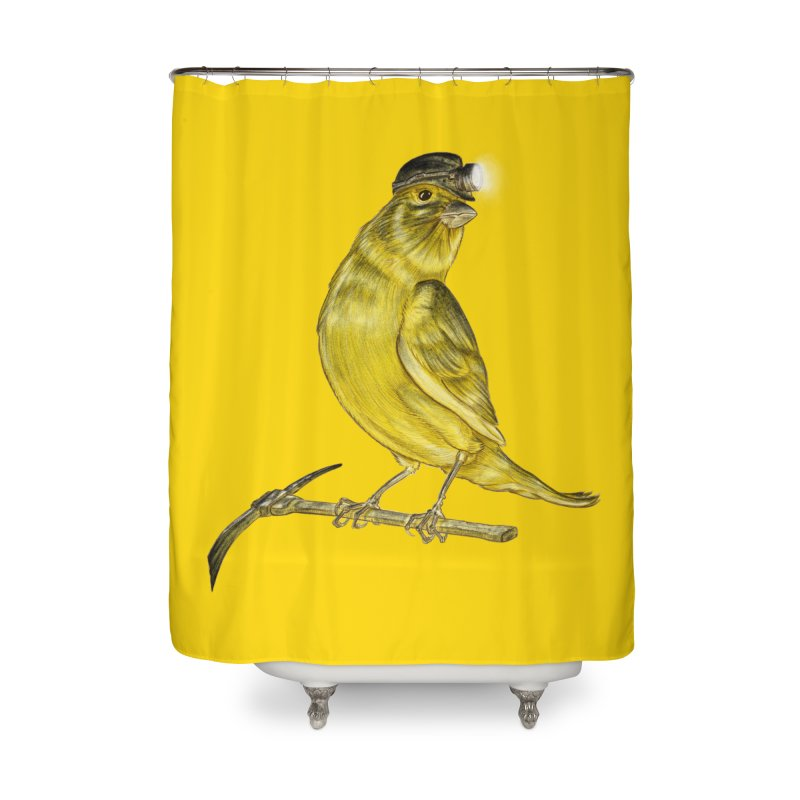 Canary Coal Miner Home Shower Curtain by Luke Wisner