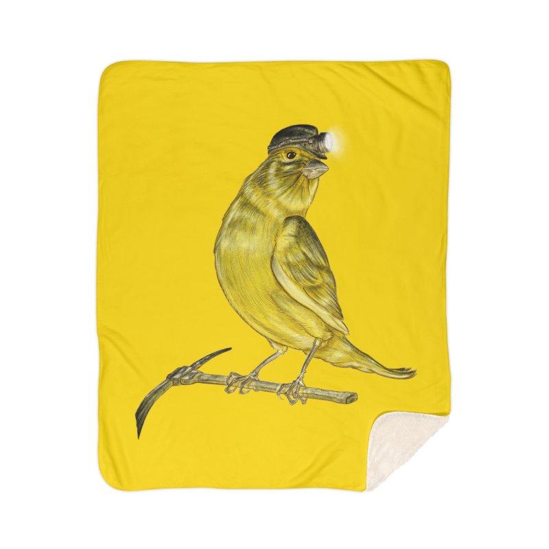 Canary Coal Miner Home Sherpa Blanket Blanket by Luke Wisner