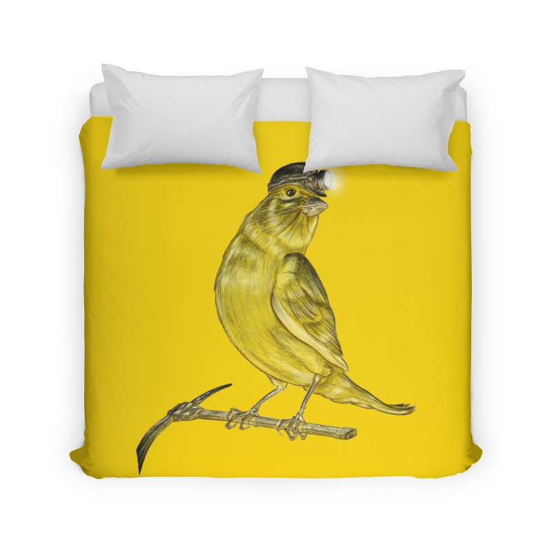 Canary Coal Miner Home Duvet by Luke Wisner