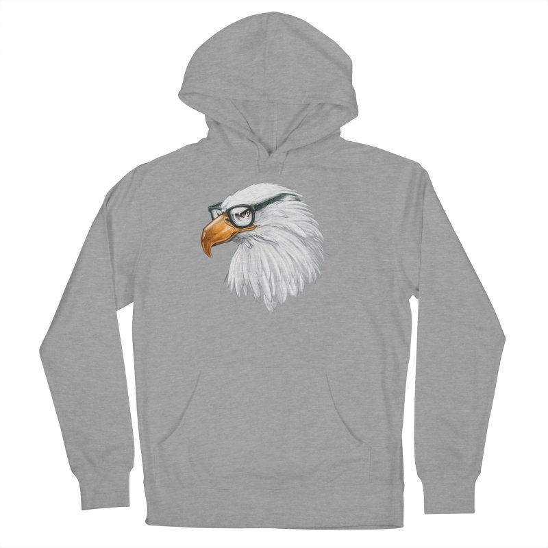 Eagle Eye Women's French Terry Pullover Hoody by Luke Wisner