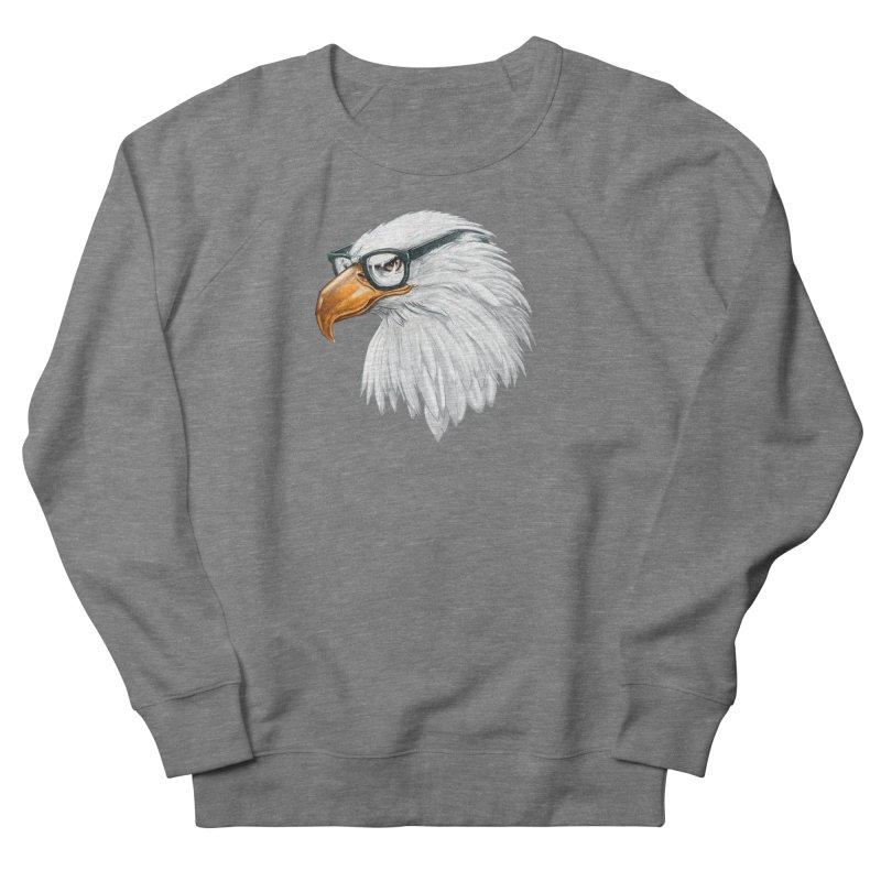 Eagle Eye Men's French Terry Sweatshirt by Luke Wisner