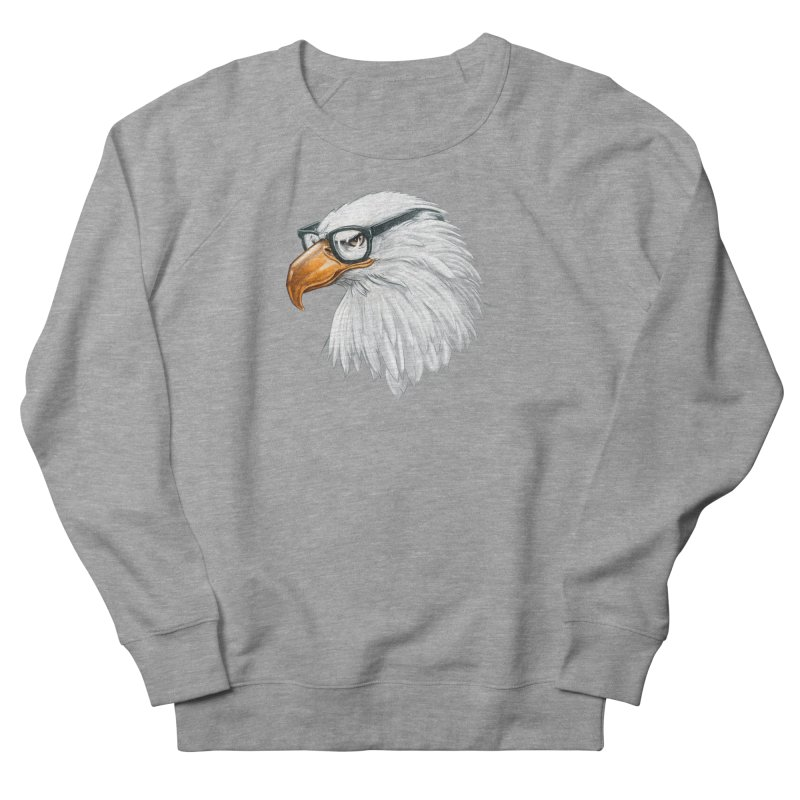 Eagle Eye Men's French Terry Sweatshirt by Luke Wisner