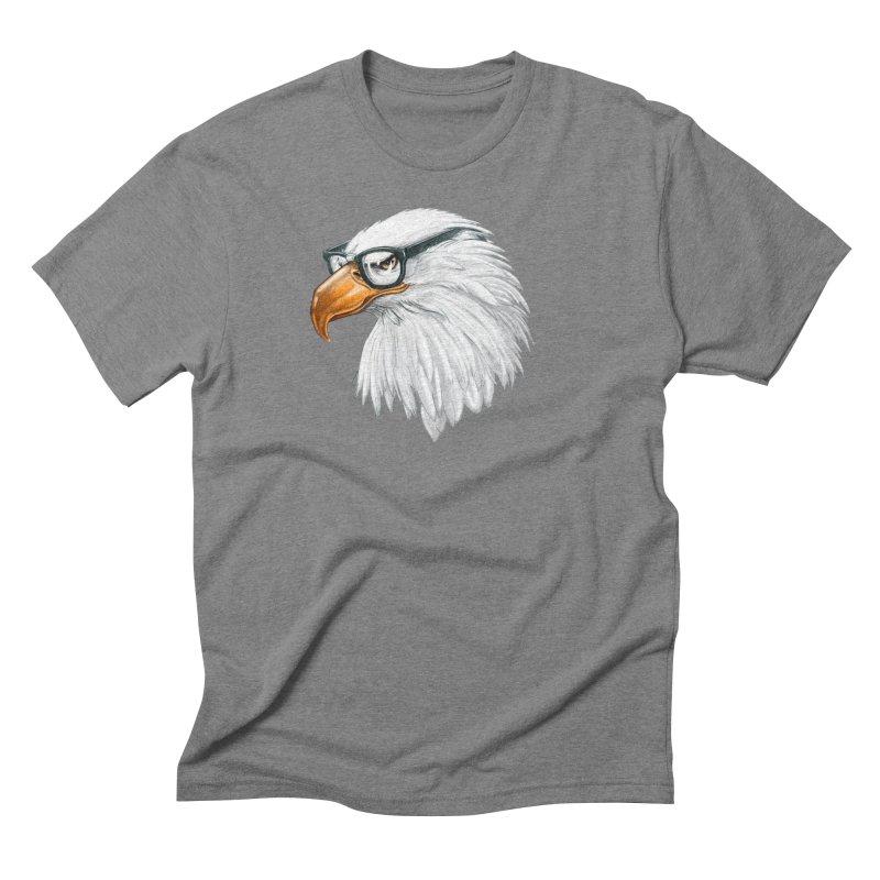 Eagle Eye Men's Triblend T-Shirt by Luke Wisner