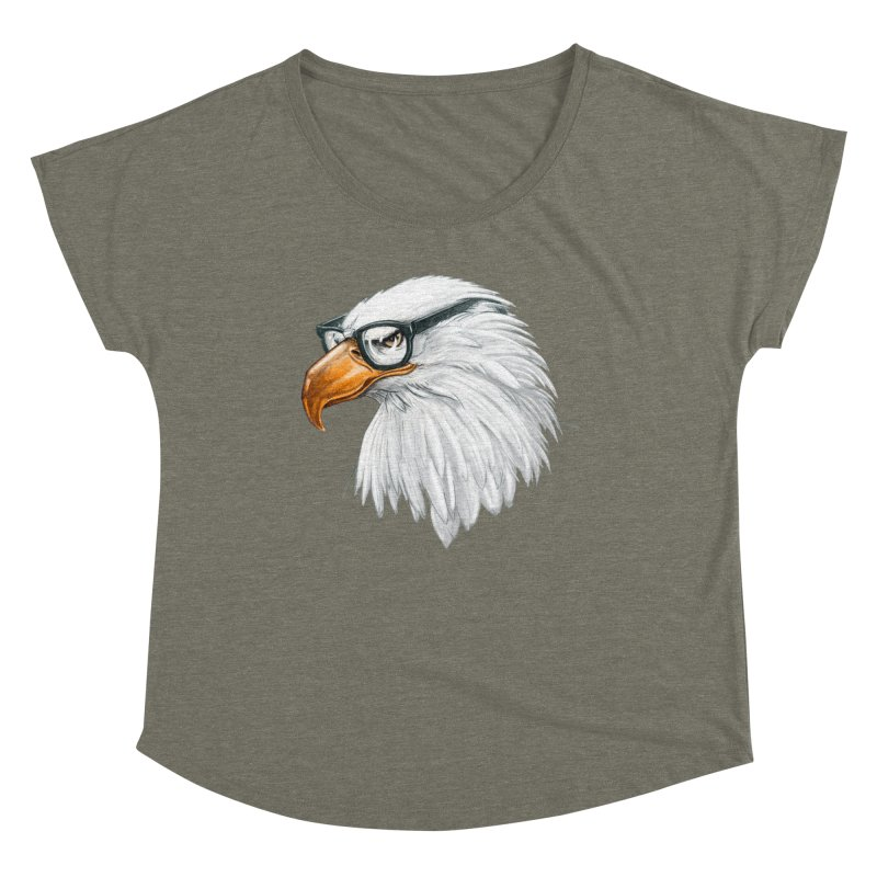 Eagle Eye Women's Dolman Scoop Neck by Luke Wisner