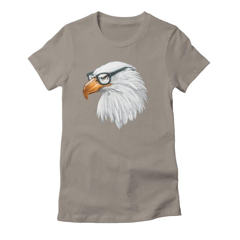 Eagle Eye Women's Fitted T-Shirt by Luke Wisner