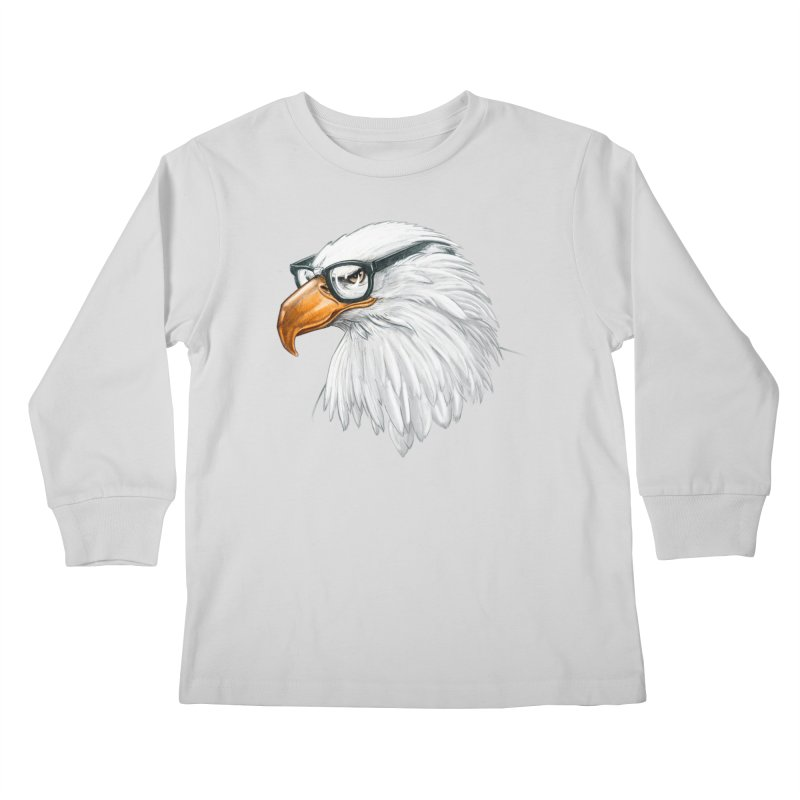 Eagle Eye Kids Longsleeve T-Shirt by Luke Wisner