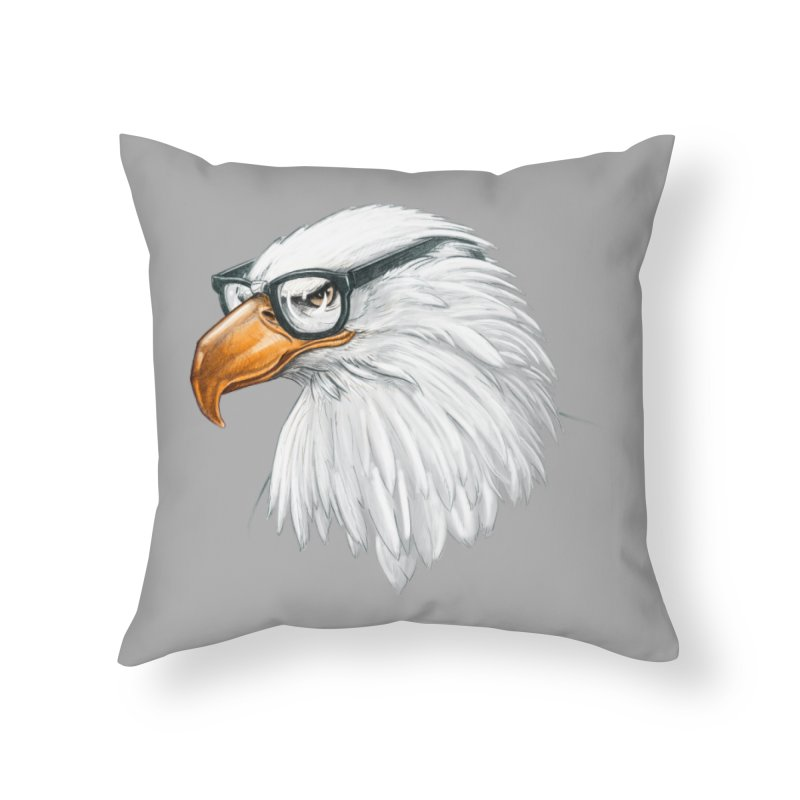 Eagle Eye Home Throw Pillow by Luke Wisner