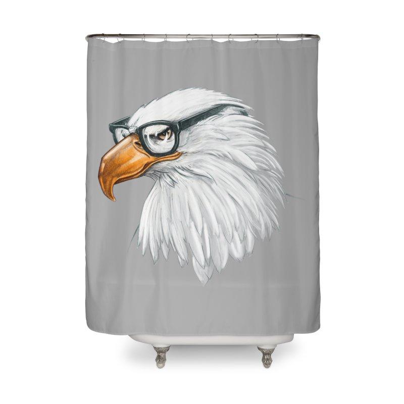 Eagle Eye Home Shower Curtain by Luke Wisner