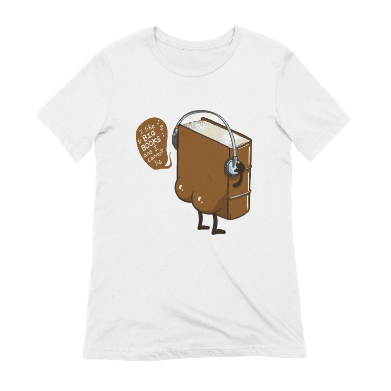 I like BIG BOOKS Women's Extra Soft T-Shirt by Luke Wisner