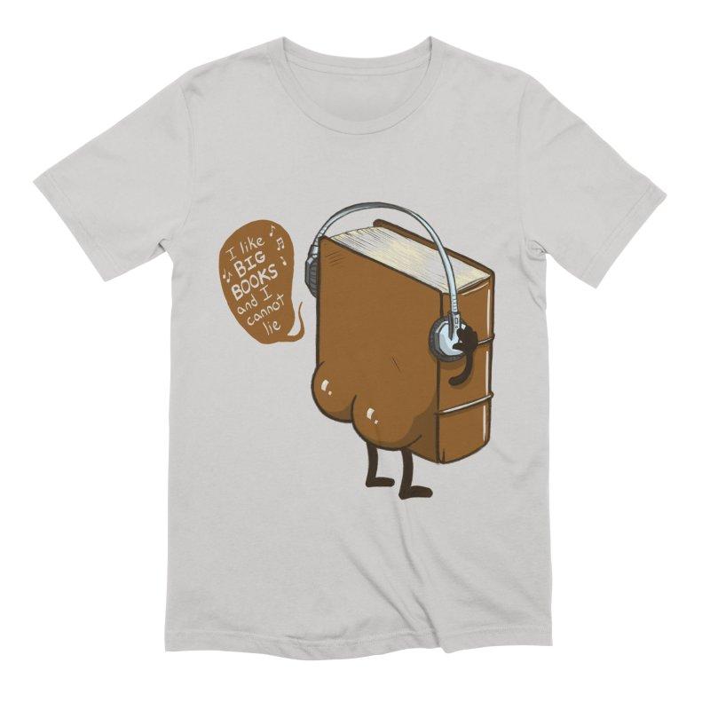 I like BIG BOOKS Men's Extra Soft T-Shirt by Luke Wisner