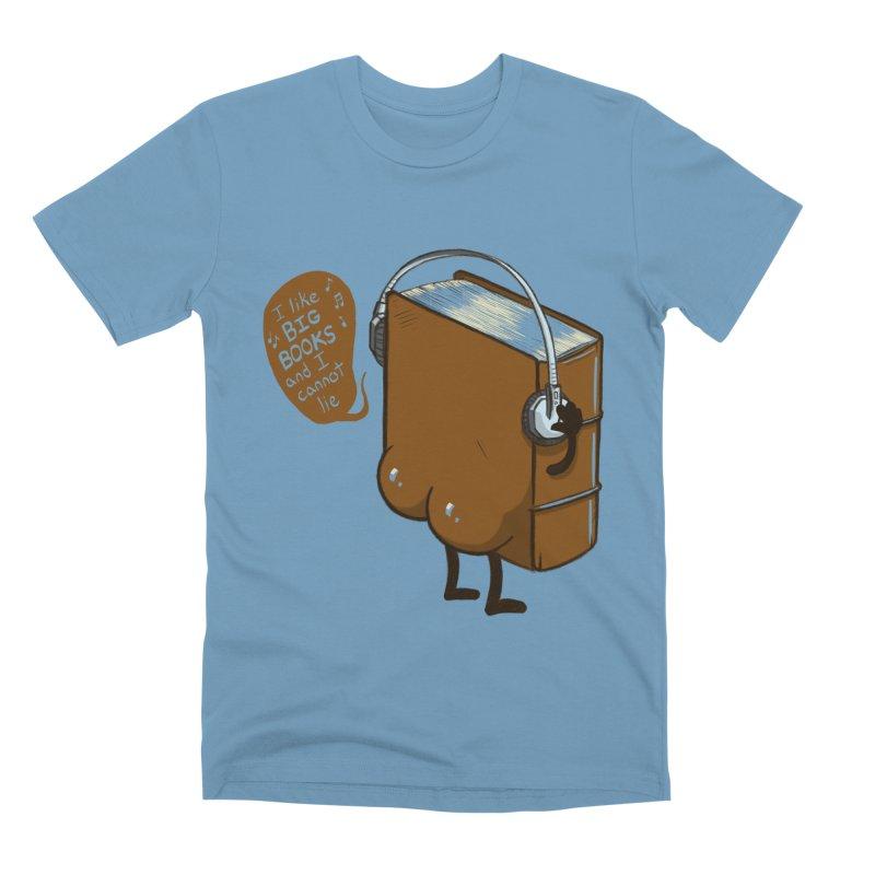 I like BIG BOOKS Men's Premium T-Shirt by Luke Wisner
