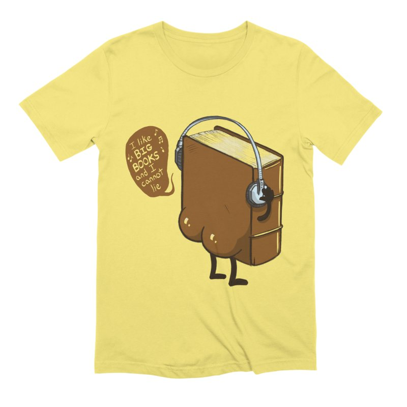 I like BIG BOOKS Men's Extra Soft T-Shirt by Luke Wisner