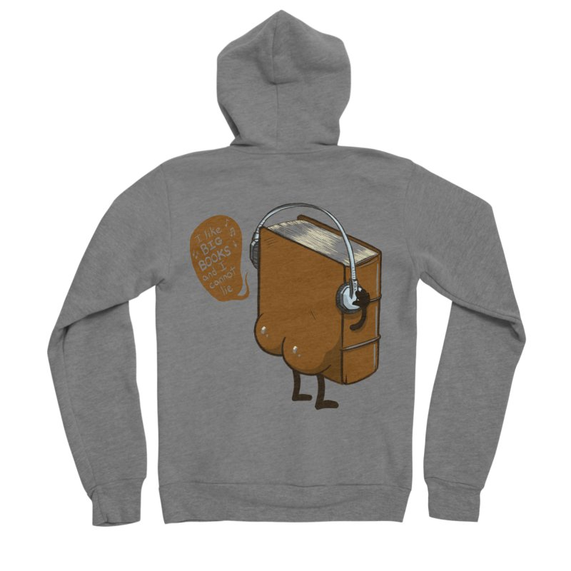 I like BIG BOOKS Men's Sponge Fleece Zip-Up Hoody by Luke Wisner