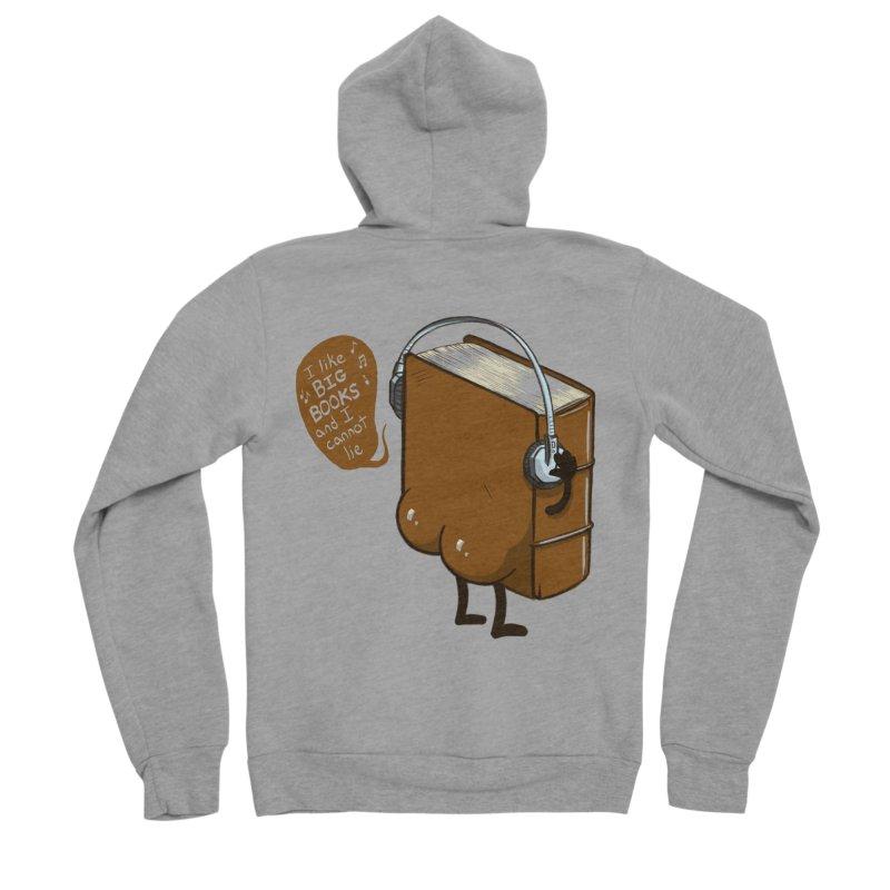 I like BIG BOOKS Men's Sponge Fleece Zip-Up Hoody by Luke Wisner