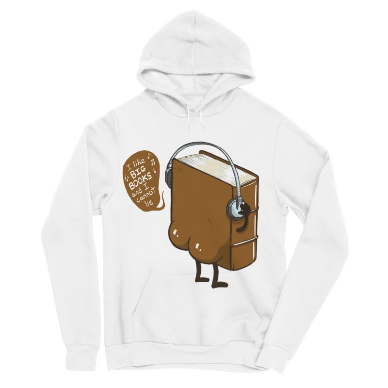I like BIG BOOKS Men's Sponge Fleece Pullover Hoody by Luke Wisner