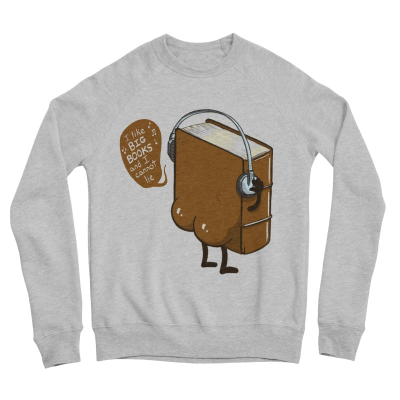 I like BIG BOOKS Men's Sponge Fleece Sweatshirt by Luke Wisner