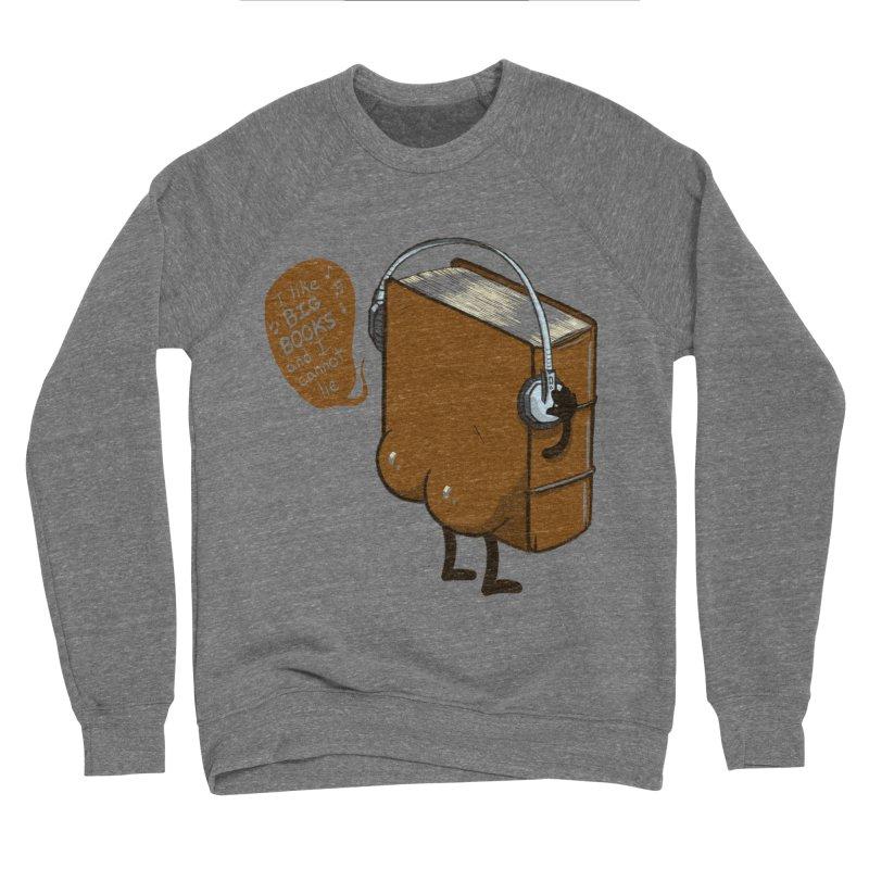 I like BIG BOOKS Men's Sponge Fleece Sweatshirt by Luke Wisner
