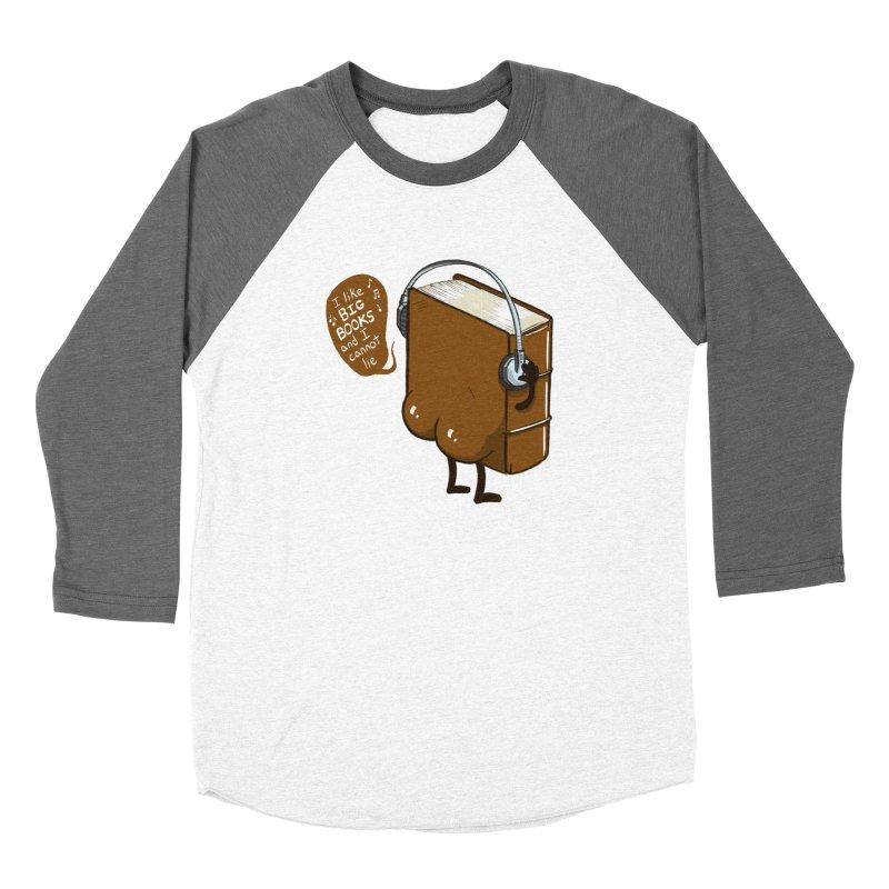 I like BIG BOOKS Men's Baseball Triblend Longsleeve T-Shirt by Luke Wisner