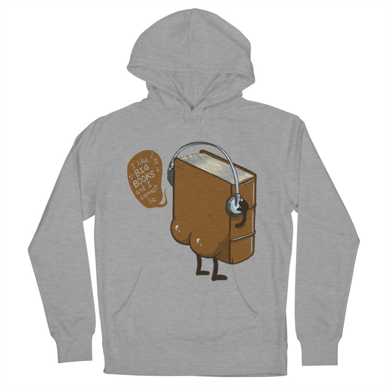 I like BIG BOOKS Men's French Terry Pullover Hoody by Luke Wisner