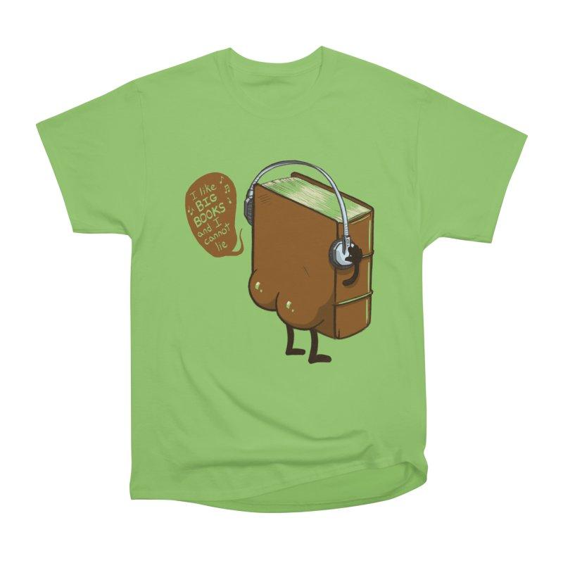 I like BIG BOOKS Men's Heavyweight T-Shirt by Luke Wisner