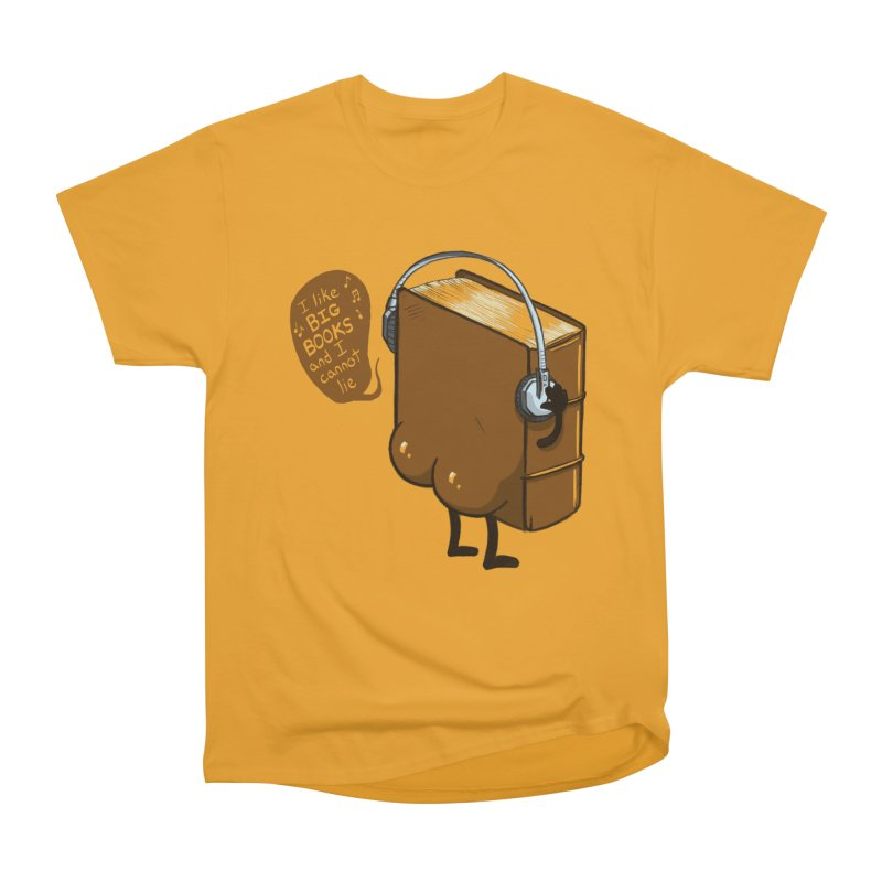 I like BIG BOOKS Men's Heavyweight T-Shirt by Luke Wisner