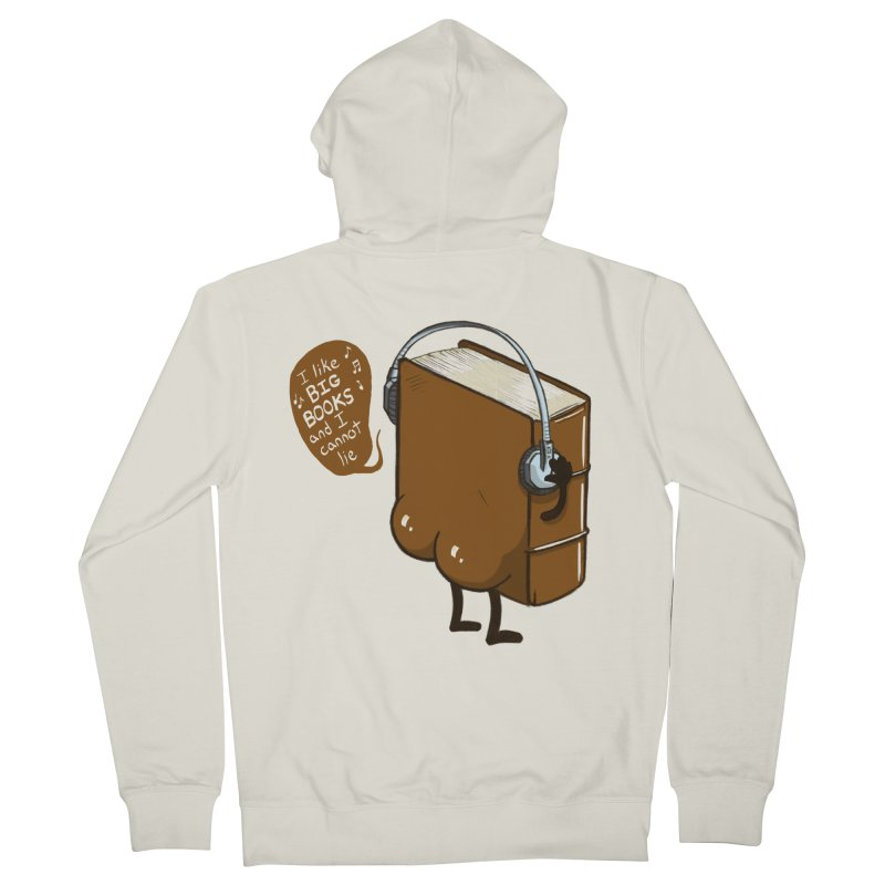 I like BIG BOOKS Women's French Terry Zip-Up Hoody by Luke Wisner