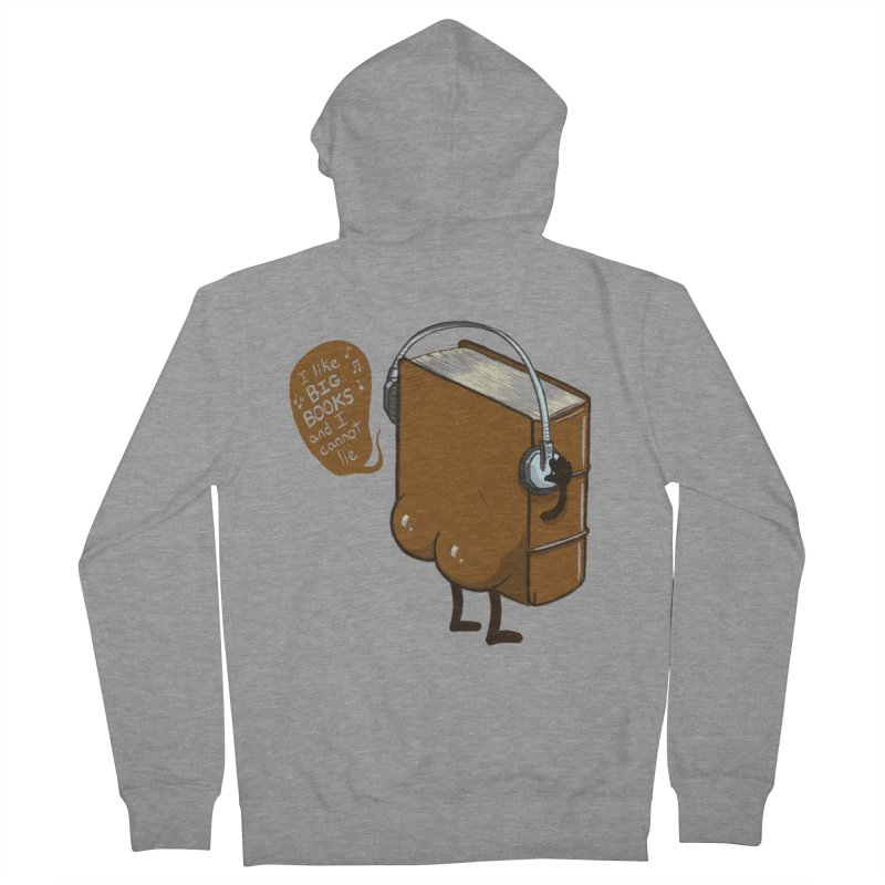 I like BIG BOOKS Men's French Terry Zip-Up Hoody by Luke Wisner
