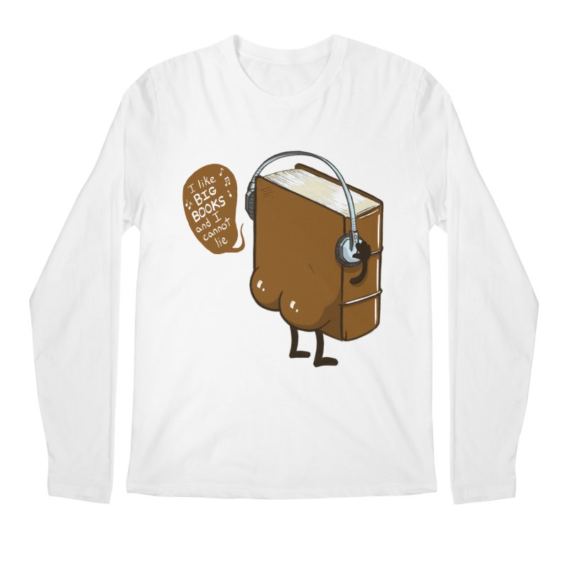 I like BIG BOOKS Men's Regular Longsleeve T-Shirt by Luke Wisner